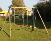 Balançoires de jardin pour enfants - Comprend : 2 balançoires - 1 vis à vis