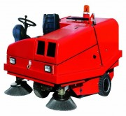Balayeuse autoportée avec bac 240 litres - Rendement horaire : 12.400 m²/h - Moyennes et grandes surfaces