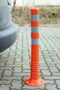 Balise de signalisation en polyuréthane - Polyuréthane - Coloris : Noir ou Orange