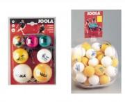 Balles de tennis de table loisir - 7 balles / 3 diamètres différents