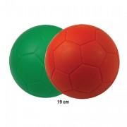 Ballon en mousse de football 19 cm - Diamètres : 19 cm - 2 coloris (rouge, vert)
