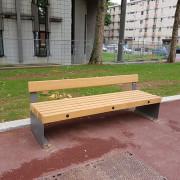 Banc acier bois - Dimensions en mm (Lxl) : 2000x508