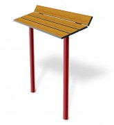 Banc assis debout - Encombrement (mm) : 1250 x 400
