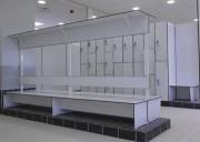 Banc avec lisse patères - Epaisseur : 10 mm - Structure époxy