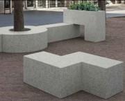 Banc béton de ville tetris Z - Dimensions (L x P x H)  : 135 x 90 x 45 cm