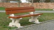 Banc béton imitation bois - Poids: 230 kg - Longueur : 2 m