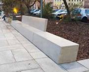 Banc béton rectangulaire - En béton renforcé avec acier galvanisé