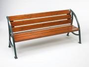 Banc bois épuré et ergonomique - A poser ou à sceller.