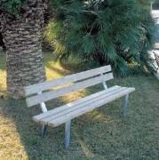 Banc bois jardin public - Hauteur assise : 45 cm - Dimensions (L x P x H) cm : 190 x 52 x 78