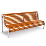 Banc bois pour espace urbain - En bois de guinée - Dimensions (L x l x H) : 2045 x 726 x 909 mm