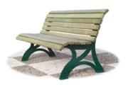 Banc bois pour jardin public - Hauteur d'assise : 40 cm - Dimensions (L x P x H) cm : 165 x 65 x 45