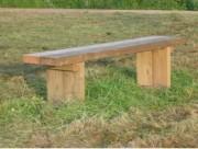 Banc bois rustique - Dimensions : 2,00 x 0,35 m et 1,00 x 0,40 m