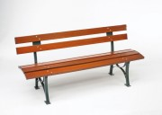Banc bois simple - Assise convexe