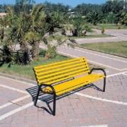 Banc d'extérieur bois - Hauteur assise : 39 cm - Dimensions (L x P x H) cm : 158 x 57 x 72