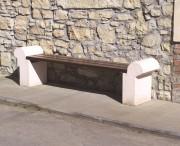 Banc de jardin béton - Modèle sans dossier