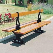 Banc de jardin double assise - Longueur : 2000 mm