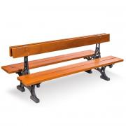 Banc de jardin double assises - Longueur (mm) : 2000