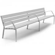 Banc de jardin en aluminium - Longueur: 3000 mm