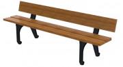 Banc de jardin en bois - Longueur (mm) : 2000