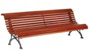 Banc de jardin lames en bois exotique - Longueur (mm) : 2000