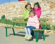 Banc de jardin pour enfants - Dimensions (L x P x H) cm : 130 x 40 x 50