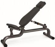 Banc de musculation ajustable en acier - Poids: 31 kg - Norme européenne EN957