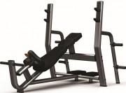 Banc de musculation développé incliné en acier - Poids : 63 kg - Norme européenne EN957