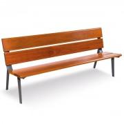 Banc de parc en bois - Longueur (mm) : 2000