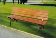 Banc de parc en fonte - Encombrement (mm) : 1800 x 500