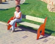 Banc de parc pour enfants - Dimensions (P x L x H) cm : 59 x  123 x 61
