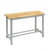 Banc de vestiaire en bois - Dimensions extérieures (L x P x H) : Jusqu'à 2000 x 325 x 480 mm