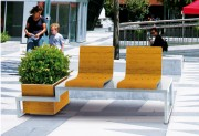 Banc design citadin - Encombrement (mm) : 1800 x 500