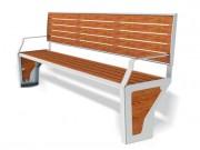 Banc design extérieur - Encombrement (mm) : 2500 x 520