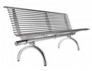 Banc en acier Rest - En acier ou acier inox
