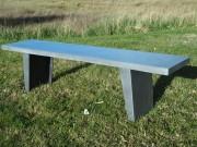 Banc en béton fibré à 2 pieds - 160 x 35 x h 45 cm ou sur mesure