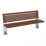 Banc en bois avec assise galvanisé - Longueur (mm) : 2000