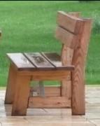 Banc en bois de mélèze - 2 modèles : Avec ou sans dossier - Dimensions (L x l) cm : 200 x 35