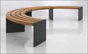 Banc en bois et acier sans dossier - Finitions inox ou galvanisé verni