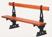 Banc en bois lasuré - Longueur : 2 m