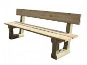 Banc en bois Longueur 1.96 m - Dimensions (L x h x p) m : 1.96 x 0.75 x 0.80
