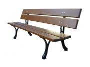 Banc en bois pieds fonte - Agréé NF P99-610