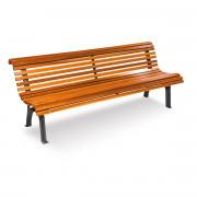 Banc en bois pin - Longueur (mm) : 1800