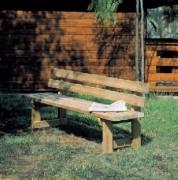 Banc en bois pour espace vert - Hauteur siège : 48 cm - Dimensions (L x P x H) cm : 190 x 50 x 80