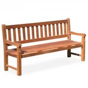 Banc en bois tropical - Longueur (mm) : 1800