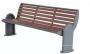 Banc en métal pour extérieur - Longueur : 140 ou 180 cm
