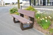 Banc en plastique recyclé pour parcs - Banc et Banquette - Longueur : 180 cm