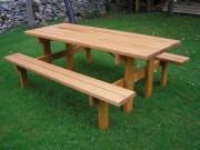 Banc et table pique-nique bois