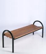 Banc extérieur en bois et métal - Dimensions : (L x l x H) 57 x 160 x 68