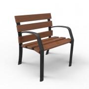 Banc fauteuil en fonte et bois - Dimensions (L x H) mm: 700 x 802