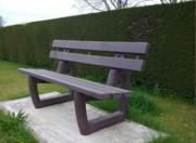 Banc jardin plastique recyclé - Longueur : 150 ou 200 cm